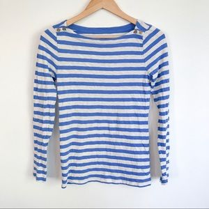 J CREW Painter Tee Boatneck Stripes Small